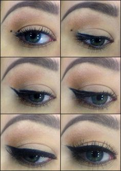 Winged Eyeliner Steps