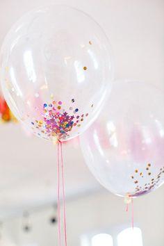 DIY Como hacer globos con confeti -