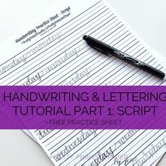 Want to try a different style of handwriting and lettering in your planner? Download these free practice guides!