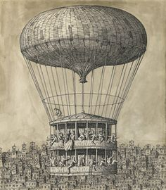 Domenico Gnoli - Departure, 1956 Crayon, encre de Chine et lavis… Steampunk Movies, Steampunk Festival, Neo Victorian, Alternate History, Italian Artist, Crayon, New Artists, Cool Drawings, Illustrators