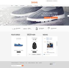 Swims website by Martin Klausen, via Behance