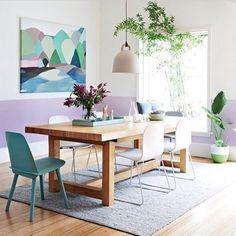 Casinha colorida: Salas de Jantar: clean e com design especial (tendências 2016)