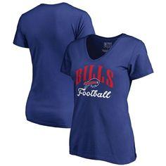 Buffalo Bills NFL Pro Line by Fanatics Branded Women's Victory Script V-Neck T-Shirt -Royal - $24.99