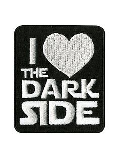 Star Wars I Love The Dark Side Patch,