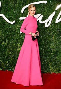 Laura Bailey in a beautiful floor-length hot pink Emilie Wickstead dress at the British Fashion Awards 2014. | Laura Bailey lends her immaculate style to L.K. Bennett - Telegraph