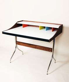 Compartment Desk | dotandbo.com (Nelson Desk Knockoff, but what a beauty)