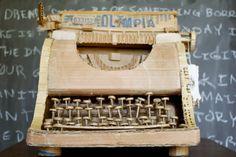 cardboard typewriter.