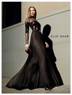 Elie Saab Fall 2012 Ad Campaign  Karlie Kloss photographed by Glen Luchford... another gorgeous dress by Elie Saab