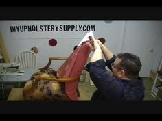 how to upholster a chair chapter 2 - YouTube