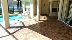 Pool paver deck/Patio cleaned and sealed.