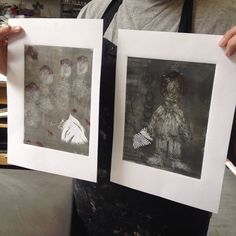 Show & Tell with monotype prints