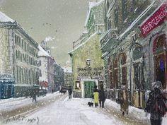 Hans Robert Pippal | Wien 8, Theater in der Josefstadt im Winter - Vienna, 8th district. Theater in der Josefstadt in Winter | um 1975 | (c) Hans Robert Pippal | Albertina, Wien
