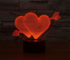 Action & Toy Figures Radient Led Toys Action Figures New Car Remote Control 3d Lamp Seven Color Touch Control Led Visual Lamp Atmosphere Decoration Lamp Carefully Selected Materials
