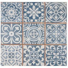 Found it at Wayfair Supply - EliteTile Faventie Azul x Glazed Ceramic Field Tile in Blue Tuile, Distressed Painting, Stone Tiles, Kitchen Flooring, Kitchen Backsplash, Ceramic Flooring, Blue Backsplash, Kitchen Dining, Vinyl Flooring