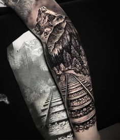 - only best tattoos - Artist ➖➖➖➖➖➖➖➖➖➖➖➖➖➖➖➖➖➖ 📣📢you want a shoutout? Forest Tattoo Sleeve, Nature Tattoo Sleeve, Wolf Tattoo Sleeve, Full Sleeve Tattoo Design, Forest Tattoos, Full Sleeve Tattoos, Sleeve Tattoos For Women, Nature Tattoos, Tattoos For Guys