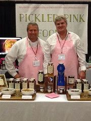 Pickled Pink Foods was built by the Stephenson Family, who also founded Hunter's Hotline, a nonprofit organization that provides confidential hotlines to schools and raises community awareness of issues affecting our youth. The Pickled Pink's product line was created as a way help fund the nonprofit organization. They launched their first product, a Gourmet Sweet Pickle in July, 2013. Each jar contains information about Hunter's Hotline on the back label.