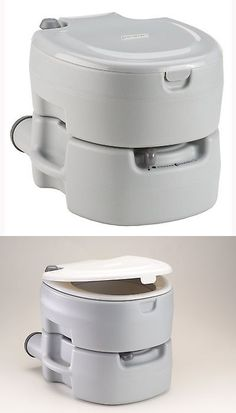 Portable Toilets And Accessories 181397: White Port A Pot Camping Pumped Portable  Toilet Potty Boating Compost 5.3 Gallon  U003e BUY IT NOW ONLY: $86.9u2026