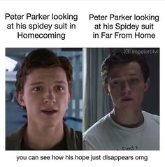Spiderman Peter Parker Homecoming Far from home Marvel MCU movies Avengers Comics, Marvel 3, Avengers Memes, Captain Marvel, Funny Marvel Memes, Marvel Jokes, Dc Memes, Movie Memes, Funny Memes