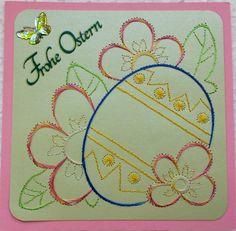Ostern 06 -  Doppelkarte mit Umschlag im Format 13,5 x 13,5cm -  Motiv gefunden auf glittermotifs.nl