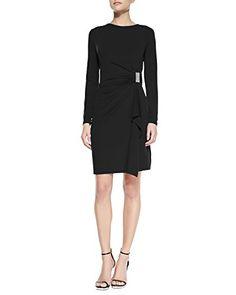 Michael Kors Women's Jersey Long Sleeve Gathered Dress Bl... https://www.amazon.com/dp/B00JL60EDC/ref=cm_sw_r_pi_dp_x_X29yybF01Y03G