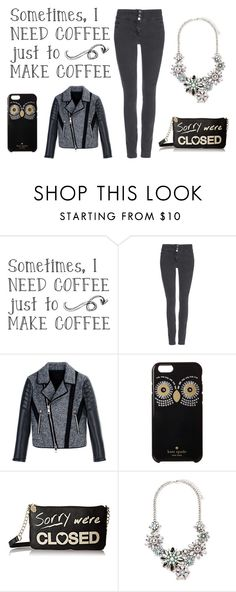 """COFFEE!!!"" by fashion-baby-fashion ❤ liked on Polyvore featuring Wallis, Neil Barrett, Kate Spade, Betsey Johnson and Forever 21"