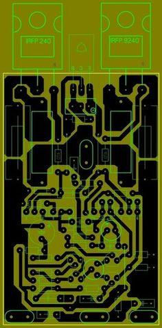 Diy Amplifier, Class D Amplifier, Waves Audio, Electronic Circuit Design, Circuit Board Design, Electronic Schematics, Circuit Diagram, Hifi Audio, Electronics Projects