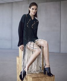 Hilary Rhoda by Nathaniel Goldberg for Harper's Bazaar US December January 2014-2015 3