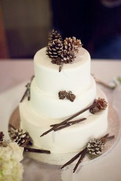 Winter Wedding Cakes Wedding Cakes Photos on WeddingWire