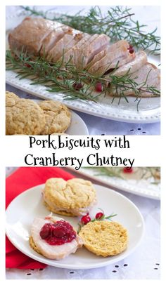 Sweet Potato Pork Biscuits with Cranberry Chutney is a quick but elegant weeknight or party food. #RealFlavorRealFast #IC  #ad @smithfield