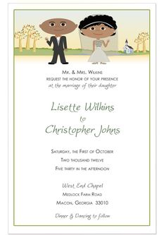 Fall Wedding Invitations and RSVP Cards Fall by 76thStreetInk