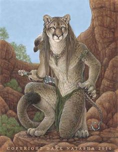 """Cougar canyon - """"Cougars are such beautiful animals and felt this one would look good in the red rocks."""""""