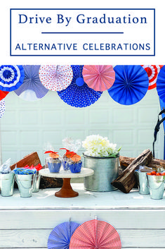 Host a driveway graduation celebration for the Class of 2020! These ideas from Everyday Party Magazine are perfect for any graduation celebration. #OTCGraduation #OrientalTrading #Ad #GraduationParty #SocialDistancingParty