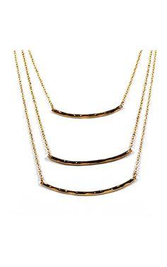 Lavishville - Triple Layer Necklace with Gold Color Pendants, $14.00 (http://www.lavishville.com/triple-layer-necklace-with-gold-color-pendants/)