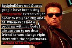 Arnold Schwarzenegger on chiropractic care / e o tratamento de Quiropraxia