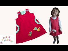 Pinafore Dress 'Megan's Baby Bird' - How to sew - YouTube