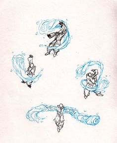 Waterbending doodls by moptop4000.deviantart.com on @DeviantArt