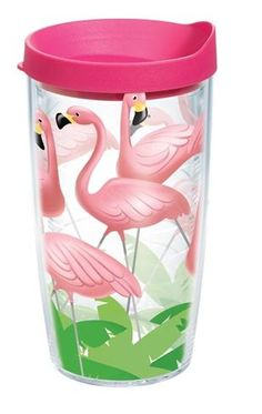 Tervis Tumbler Flamingo with lid