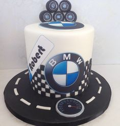My Friend Robert's BMW Birthday cake! BMW cake, car cake.