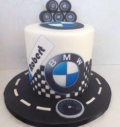 My Friend Robert's BMW Birthday cake! BMW cake, car cake.