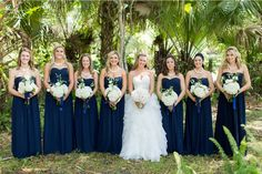 Navy Blue Wedding Gowns