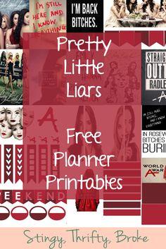 Pretty Little Liars free Planner Printables