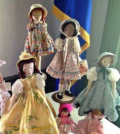 Photos of your Edith Flack Ackley pattern dolls, vintage or new. Other dolls in the photo are fine but please don't post photos of dolls without an Ackley/EFA doll in the photo. Tiny Dolls, Soft Dolls, Doll Clothes Patterns, Doll Patterns, Antique Dolls, Vintage Dolls, Fabric Dolls, Rag Dolls, Homemade Dolls