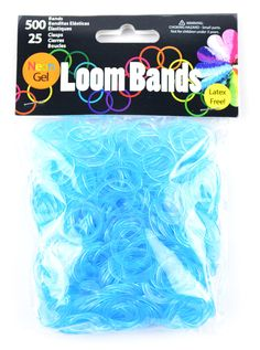 Loom Bands Neon Gel Turquoise | Loom Bands & Accessories #loom #diy #loombands #bright