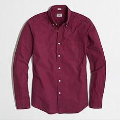 Factory slim patterned washed shirt