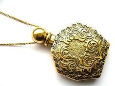 Vintage Perfume Bottle Pendant Necklace review   buy, shop with friends, sale   Kaboodle