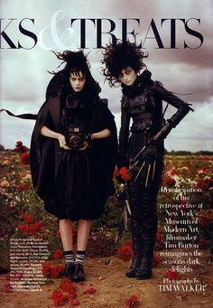 Lydia Deetz + Edward Scissorhands by Tim Burton and Tim Walker for Harper's Bazaar