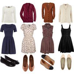 cardis, day dresses, and flats = fall uniform!