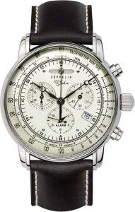 Zegarek Męski Zeppelin 100 Jahre Chronograph Alarm Quartz 8680-3