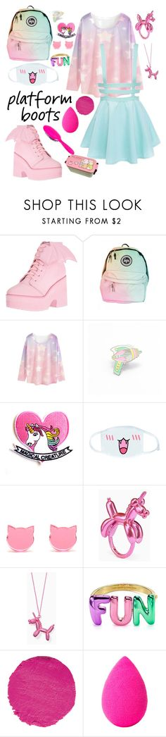 """""""Platform Boots"""" by chiara-kawaiiunicorn ❤ liked on Polyvore featuring Iron Fist, WithChic, Sumikko, Kate Spade, Le Métier de Beauté, beautyblender and Rock & Ruddle"""