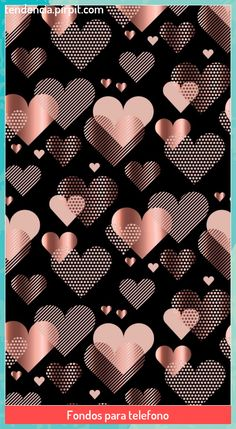 Rose Gold Wallpaper, Black Wallpaper Iphone, Wallpaper Iphone Disney, Heart Wallpaper, Cute Disney Wallpaper, Trendy Wallpaper, Cute Wallpaper Backgrounds, Tumblr Wallpaper, Love Wallpaper